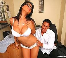 Amazing big tits executive babe giana strips down in the office and get banged hard in these hot office fucking big video and pics