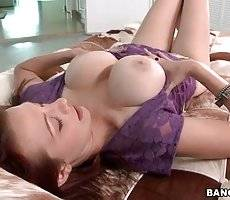 Redhead Hottie Fleshes Her Natural Melons 3