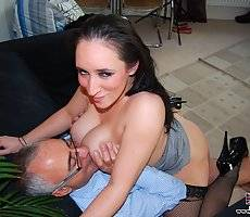 Thick slut with big tits gets fucked by fart