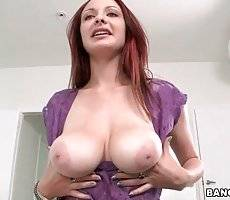 Redhead Hottie Fleshes Her Natural Melons 2