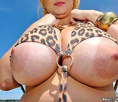 Amazing samantha is the boobie monster watch her get titty fucked and cream covered
